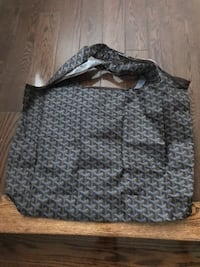 Goyard pattern recycle foldable shopping bag
