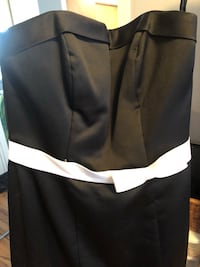 Alfred Angelo black and white bridesmaid dress  Toronto, M6K 3P5