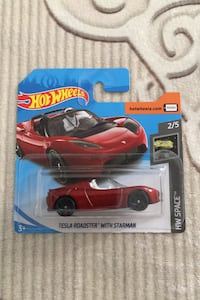 Hot wheels Tesla Roadster with starman