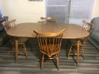 Solid Wood Kitchen Table, Dining Room Set w/4 Chai Vine Grove