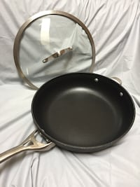 "Large frying pan , nonstick, Calphalon 13""W 3"" Deep."