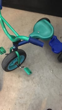 Toddler's green and blue trike