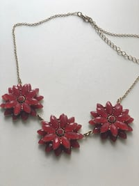 Red Flower Necklace Toronto, M4S 1G8