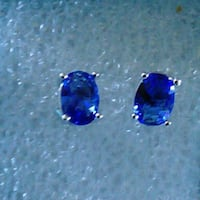 Tanzanite & White Gold Filled Earrings  Sparks, 89441