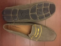 Pair of green suede penny loafer slip ons Toronto, M8V 2E7