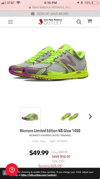 New Balance Limited Edition women's running shoes; New in box : 7.5 Monterey, 93940