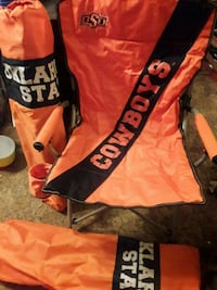 OSU COWBOYS 2 CHAIRS WITH CUP HOLDERS N BAGS  Del City, 73115