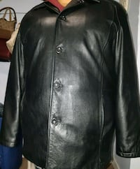 black leather button up jacket Winnipeg, R3C