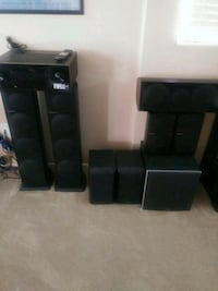 Pioneer surround system with (5) speakers plus (2) additional speakers Las Vegas, 89141