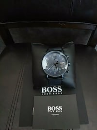round silver-colored chronograph watch with link bracelet Los Angeles, 90038