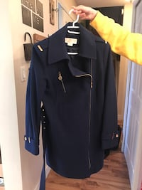 Blue and black zip-up jacket