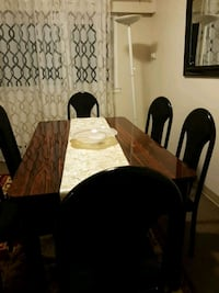 brown wooden dining table set Vancouver, V5M 3X7