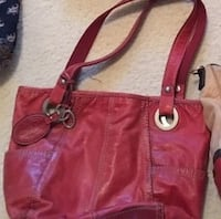 Red leather Fossil handbag. Excellent condition New Castle, 16105