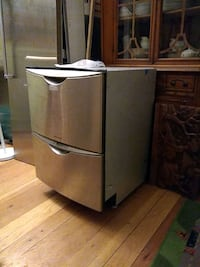 gray stainless steel top-mount refrigerator Oakland, 94605