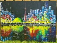40x30 inches Handpainted Toronto skyline painting  Vaughan, L4J 5S3