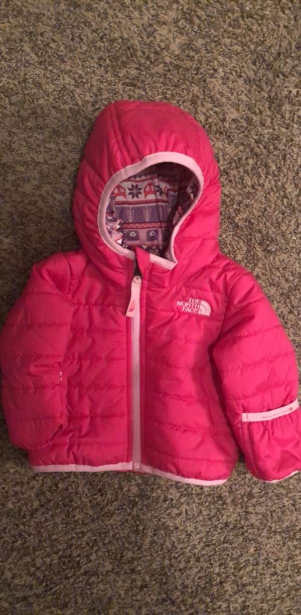 5d5c94dbe The North Face Infant Girl 3-6 Month Pink Jacket, Reversible Coat