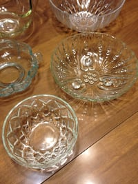 6 Glass & Crystal Bowls/Candy Dishes