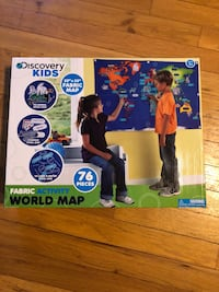 Discover kids brand.  World map Flanders, 07836