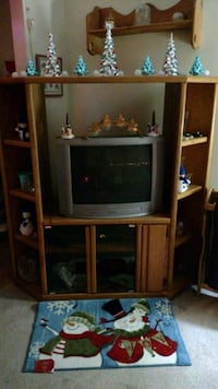 brown wooden TV hutch  Minneapolis, 55427