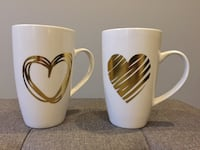 Pair of Tall Heart Mugs Whitby