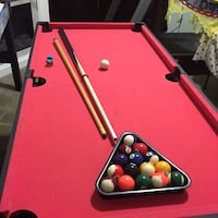 red and brown billiard table 24 mi