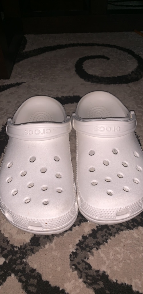 685d3469e pair of white Crocs clogs for sale Punta Gorda More pictures. Letgo