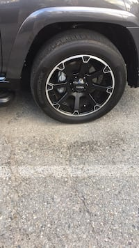 20 inch rims and hankook tires full package, used for two summer seasons. Never used in the winter, so they have not seen any road salt. I have two special locking lug nut keys for them, as well as extra Lugnuts. I also have the original receipt, there ar