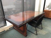 Rectangular brown wooden table/desk Montreal