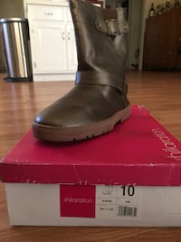unpaired size 10 black Xhiliration leather round-toe mid-calf engineer boot with red box Los Banos, 93635