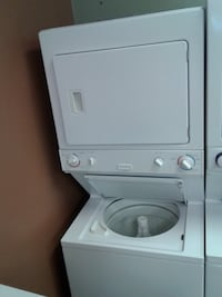 white stackable washer and dryer null