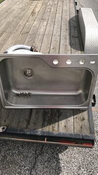 stainless steel sink with faucet Frackville, 17931