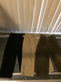 Boys corduroy pants size 5 & long sleeve size 5 (6 pieces total) Woodbridge, 22193