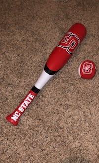Kids Soft NC State Baseball Bat and Ball