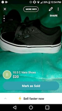 Boys 10.5c vans shoes Houma, 70364