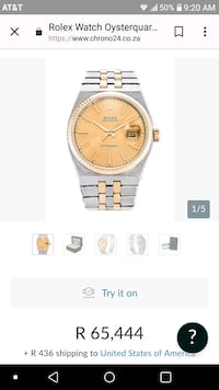 round gold-colored analog watch with link bracelet screenshot Houston, 77011