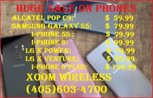 Cheapest Alcatel Pop C9 for only $59.99 @ XOOM WIRELESS We have the largest selection of smart phones, tablets, accessories and much more. We also do repair service for all your smart devices in an affordable price. All our devices come from major carrier