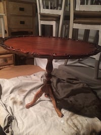Decor table,sanded and stained