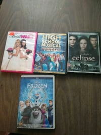 $10 each for the movies Sugar Notch