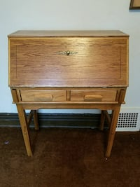 brown wooden single-drawer side table 2304 mi