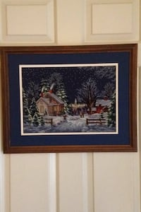 Needlework Picture of Winter Framed and With Matt  Fairfax Station, 22039