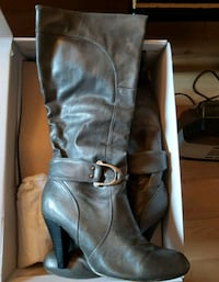 Aldo Leather Boots - Size 40. Grey Montreal, H4C 2W2