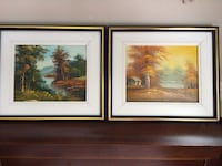 2 framed and mounted paintings Châteauguay, J6J 5H9