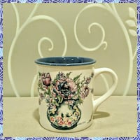BEAUTIFUL BLUE FLORAL COFFEE MUG  Ontario, 91762