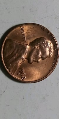 """1968 """"S"""" mint penny Independence, 64055"""