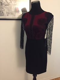 Red and black lace dress  Toronto, M5T 1B7