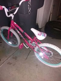 toddler's pink and white bicycle Fresno, 93727