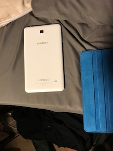 White and silver Samsung tablet