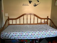 Twin wood bed with mattress included Hialeah, 33015