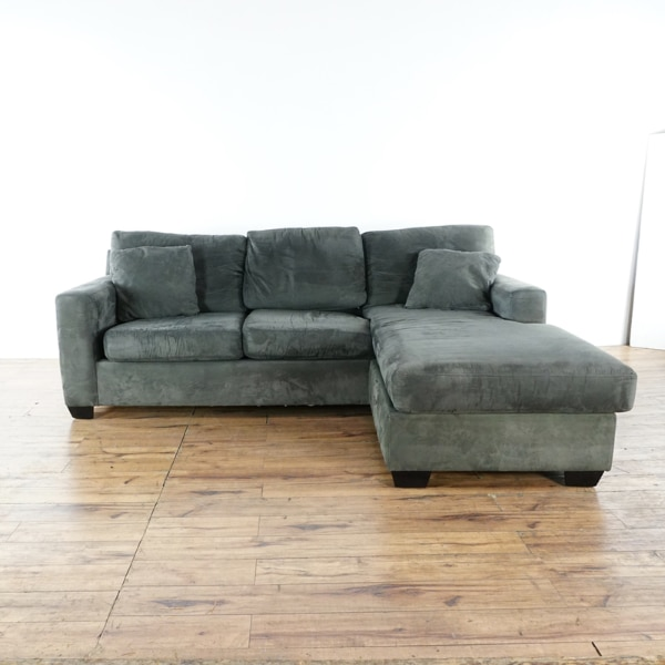 used macy s better by design gray upholstered sectional sofa bed rh ca letgo com