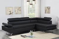 [CLEARANCE] Moderno Black Sectional Houston, 77036